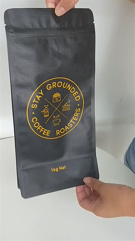 Looking for a good deal on bag coffee with valve? Custom Printed Flat Bottom Resealable Ziplock Top Coffee Bags With Valve Wholesale Packaging Bag ...