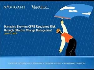 Managing Evolving CFPB Regulatory Risk through Effective ...