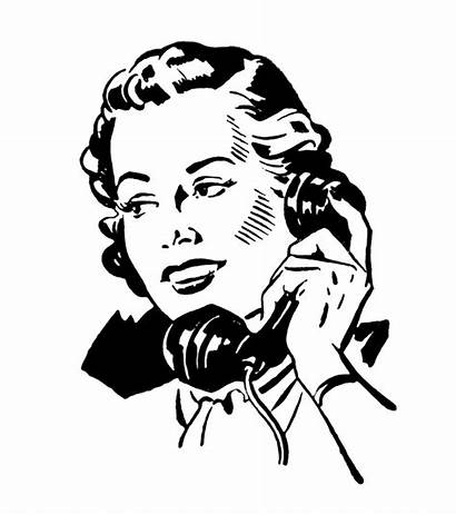 Telephone Phone Retro Graphics Clipart Illustration Talking