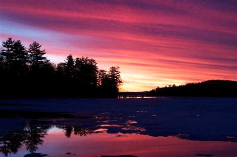 Kostenlose Bild Sonnenuntergang Orange, Lila