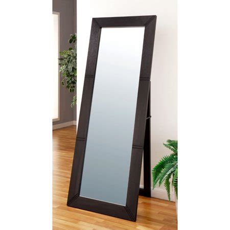 floor mirror walmart furniture of america chancy floor mirror in cappuccino walmart