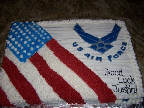 buttercream frosting   color flow air force logo