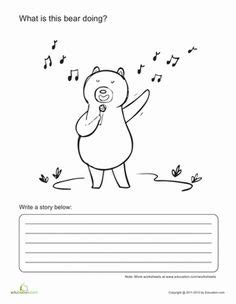 fill in the blank story school kids writing first