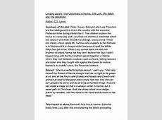 Narnia Lion Witch Wardrobe Short Summary