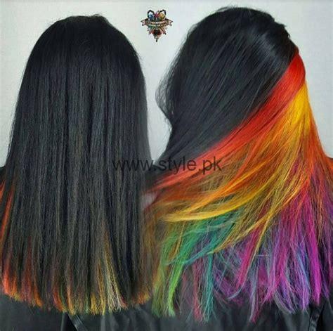 rainbow hair color hair colors secret rainbow underneath hair