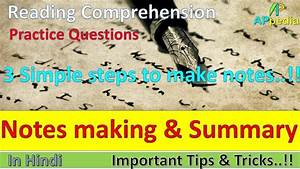 Notes making and Summary   3 Simple steps   Reading ...