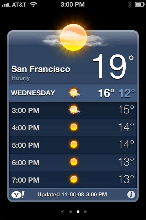 iphone weather app ios 5 features iphone weather app gets hourly forecasts