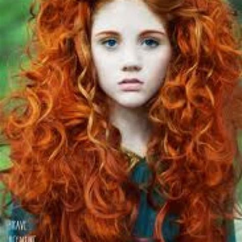 The real life Merida, from the new Disney film Brave