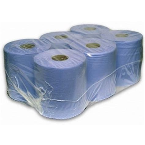 Centre Feed 2 ply BLUE Paper Hand Towel 150m Rolls