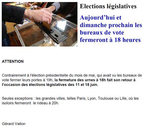 heure de fermeture des bureaux de vote heure fermeture bureau de vote 28 images ard 232 che