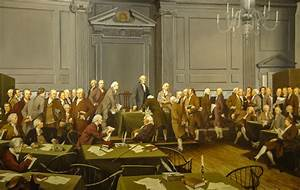 Signing of the US Constitution Painting at Independence Ha ...