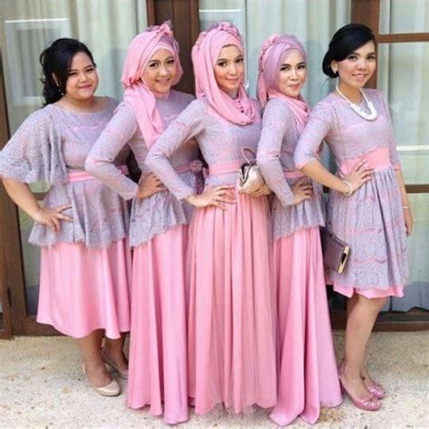 model kebaya seragam muslimah trend  pernikahan acara