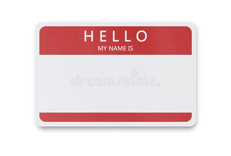 tag blank space employees names means copy learn brand background game dreamstime fun nametag right badge representing business clipping isolated