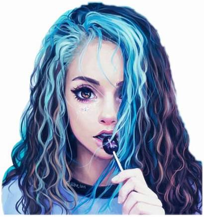 Picsart Tumblrgirl Bluehair