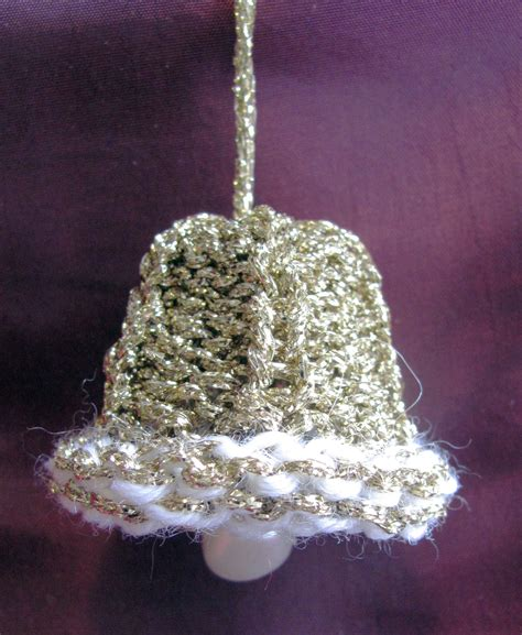 knitted bell for christmas tree knit crochet christmas