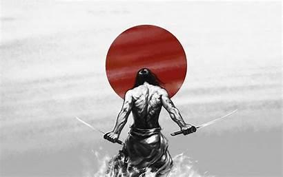 Samurai Devil Katanas Wallpaperaccess Katana Japan Warrior