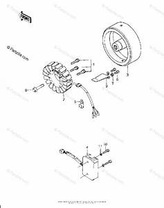 Kawasaki Motorcycle 1980 Oem Parts Diagram For Generator  Regulator   U0026 39 80 H1