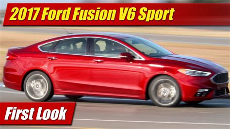 2017 Ford Fusion V6 Sport First Look Youtube