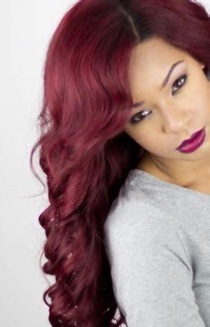 bright red hair dye   burgundy
