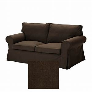 Ikea ektorp 2 seat loveseat sofa slipcover cover svanby brown for Sectional slipcovers canada