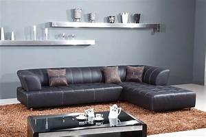 Leather sofas in los angeles black leather sectional sofa for Modern sectional sofa in los angeles