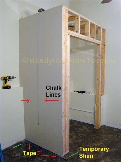 Build A Workshop Closet by How To Build A Basement Closet Drywall Installation Photo