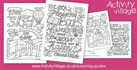 mindful colouring quotes  week