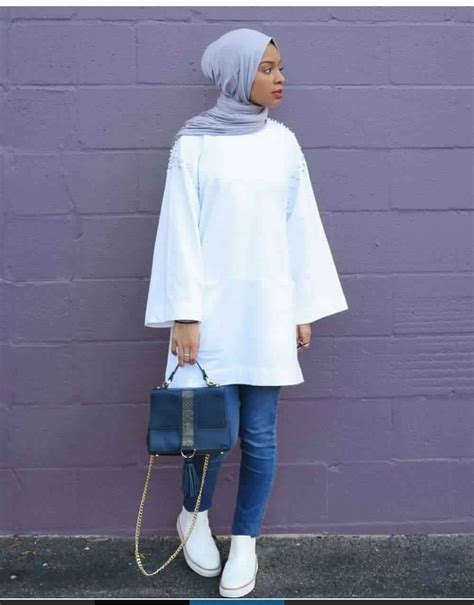 facons de porter la tunique longue avec  jean slim