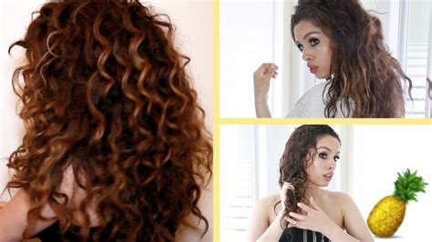 Pineapple Hair Trick!!! Curly Hair Routine ♡
