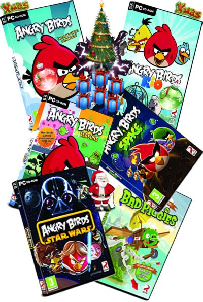 angry birds pc christmas collection   full