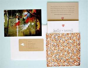 kelly terrell39s creative fabric wedding invitations With kelly paper wedding invitations