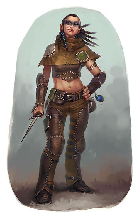 female character rogue races fantasy halfling characters eric rpg halflings dnd ranger essentials thief belisle concept kender pathfinder race dd