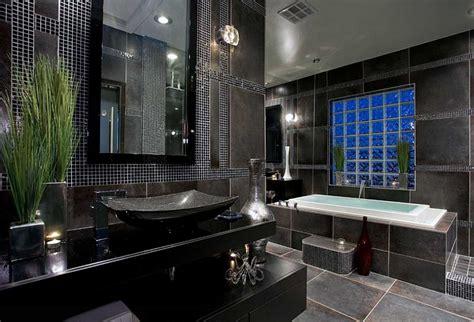 black tile bathroom ideas master bathroom tile designs with black color home