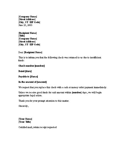 bad check letter template charlotte clergy coalition