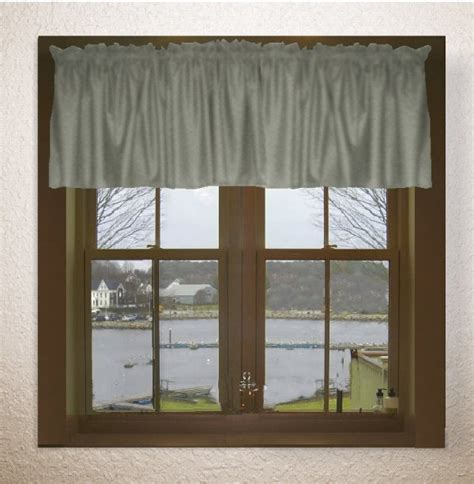 Solid Gray Valance by Solid Medium Gray Color Valance In Many Lengths Custom Size