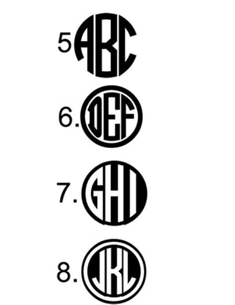 vinyl monogram fonts  colors