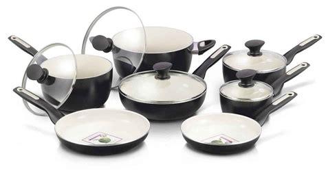 ceramic stick non cookware greenpan piece rio pots pans kitchen