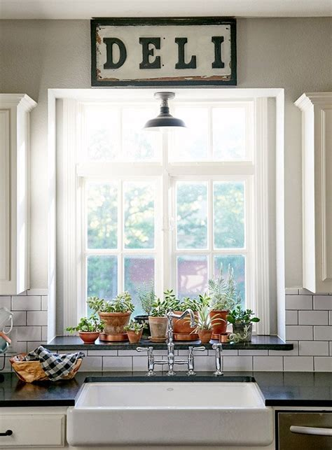 kitchen window sill windows decor plants ideas for sink