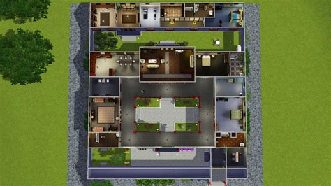 mod sims jade traditional chinese courtyard house siheyuan