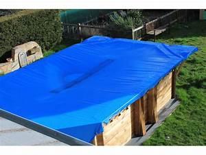 Bache Protection Piscine : b che piscine pvc 700g m 8x12m ignifug e bleue et beige ~ Edinachiropracticcenter.com Idées de Décoration