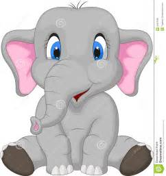 Cute Cartoon Elephants