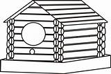 Cabin Coloring Log Pages Birdhouse Woods Cliparts Template Clipart Clip Clipartbest Computer Designs Sketch sketch template