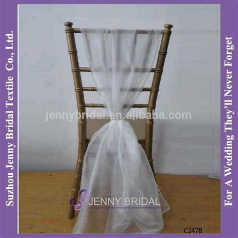 sh043a new sale white chiffon chiavari chair sash