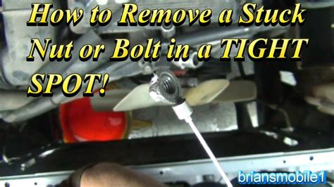 remove  stripped bolt  nut   tight spot youtube