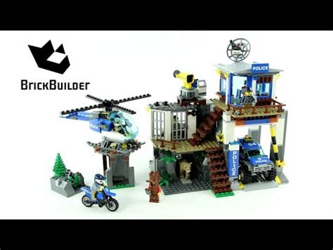 lego city  mountain police headquarters speed build