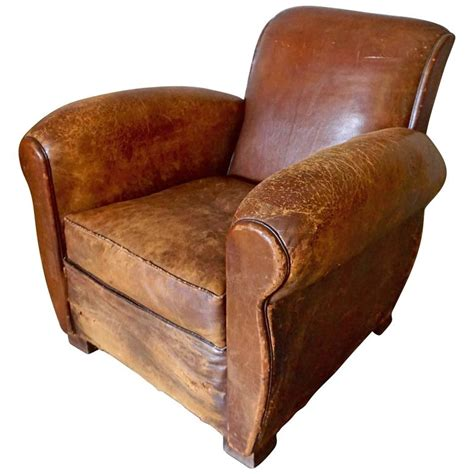 distressed leather recliner distressed deco cognac leather club chair