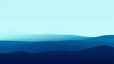 Minimal Blue Mountains Hd 5k Wallpapers