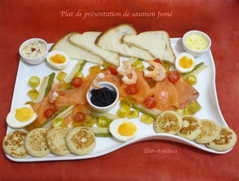 Presentation Saumon Fume En Entree plat de pr 233 sentation de saumon fum 233 diet d 233 lices