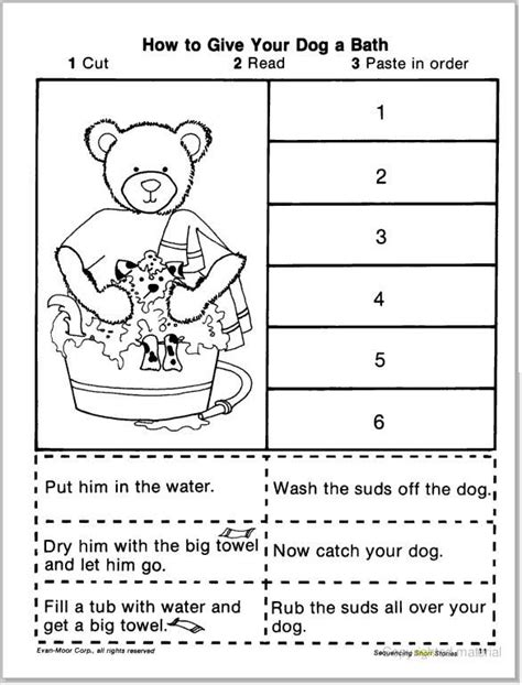 sequencing worksheets short story sequencing cut paste learningenglish esl slp