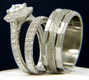 Bride and groom wedding ring sets 31 best inspiration for Set of wedding ring for groom and bride